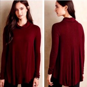 Anthropologie ⏺ Deletta Cara ⏹ Tunic Burgundy M
